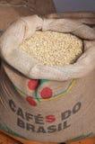 Bag Of Coffee Grains Royalty Free Stock Photos