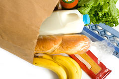 Free Bag Of Groceries On WHite Stock Photo - 5125870