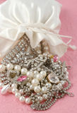 Bag Of Jewels Stock Images