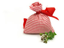 Bag with Oregano Stock Images