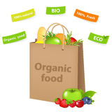 Bag With Organic Food Royalty Free Stock Photo