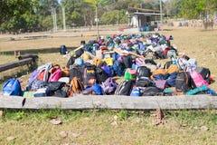 Bag pack boy scout camp in sisaket,THAILAND 2017.  Royalty Free Stock Image