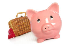 Bag packed pig Stock Photography