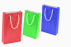 Bag. Paper shopping bags isolated on white background Stock Image