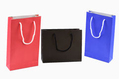 Bag. Paper shopping bags isolated on white background Stock Photo