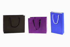 Bag. Paper shopping bags isolated on white background Royalty Free Stock Photography
