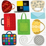 Bag pattern Royalty Free Stock Photo