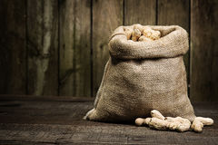 Bag of Peanuts Royalty Free Stock Images