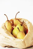 A bag of pears Royalty Free Stock Photo