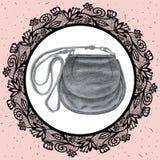 Bag. Pencil hand drawn drawing. Royalty Free Stock Image