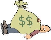 bag pengar Arkivbilder