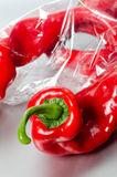 Bag of peppers Stock Image