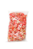 Bag of pink candy popcorn Stock Image