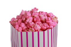 Bag of Pink popcorn Stock Image
