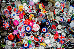 Bag pins. Souvenir London bag pins Royalty Free Stock Photo