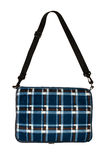 Bag plaid on a white background Stock Images