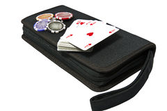 Bag for poker Royalty Free Stock Image