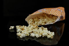 A bag with popcorn Stock Photos