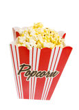 Bag of Popcorn with clipping path Royalty Free Stock Photography