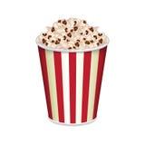 Bag of popcorn. Striped bag of popcorn isolated on white. EPS10 vector stock illustration