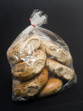 Bag of poppy seed bagels Stock Image