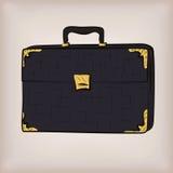 Bag portfolio briefcase, brief-case diplomat leather retro design Royalty Free Stock Image