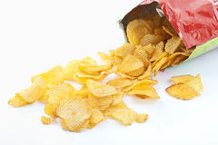 Bag of potato chips royalty free illustration