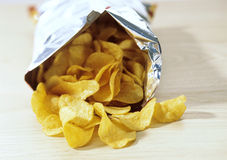 Bag of potato crisps,snacks Stock Photography