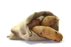 Bag potatoes Stock Photos