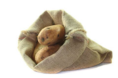 Bag potatoes Stock Image