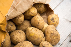 Bag of Potatoes stock image