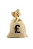 Bag with pound sign Stock Images