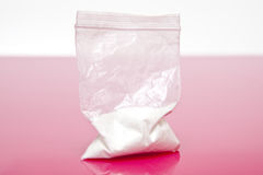 Bag of powdered drugs royalty free stock images