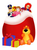 Bag with presents Royalty Free Stock Photo
