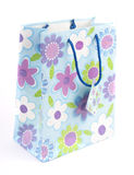 Bag with a print. Isolated on white Stock Images