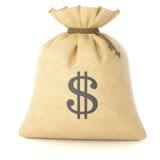 Bag rag with money Stock Photos