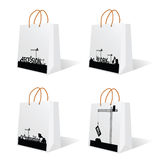 Bag with recession sign vector Stock Photos