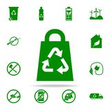 bag recycling green icon. greenpeace icons universal set for web and mobile royalty free illustration