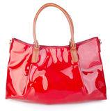 Bag. red handbag bag on background. Stock Images