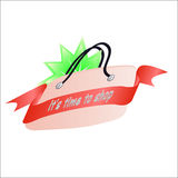 Bag with ribbon Royalty Free Stock Photo