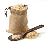 Bag of rice Royalty Free Stock Images