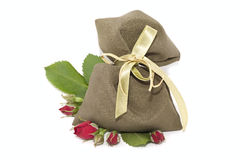 Bag and roses Royalty Free Stock Images