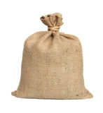 Bag from a sacking. Bag from a sacking isolated on a white background Royalty Free Stock Photo