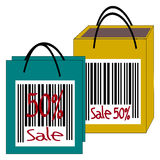 Bag, Sale 50%, 50 percent discount. Illustration vector illustration