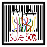 Bag, Sale 50%, 50 percent discount Royalty Free Stock Photo