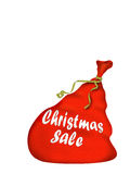 Bag Santa. Christmas bag Santa with gifts - with sewn inscription Christmas sale (isolated on a white background Vector Illustration