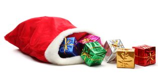 Bag of Santa Claus Royalty Free Stock Photos