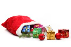 Bag of Santa Claus Royalty Free Stock Image