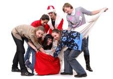 Bag Santa-Klaus Stock Photos