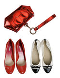 Bag and shoes Stock Image